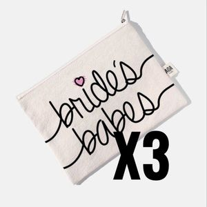 Handbags - 3 bridesmaid canvas bags